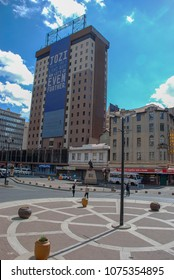 Johannesburg, Gauteng / South Africa - August 2013: Gandhi Square in the centre of Joburg
