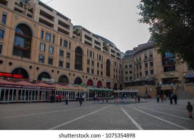 Johannesburg, Gauteng / South Africa - August 2013: Nelson Mandela Square in the Sandton area of Joburg