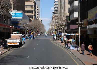 Johannesburg, Gauteng / South Africa - August 2013: A city in downtown Joburg
