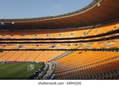 JOHANNESBURG - JUNE 10:  General view of Soccer City Stadium one day prior to the opening match of the 2010 FIFA World Cup June 10, 2010 in Johannesburg, South Africa.