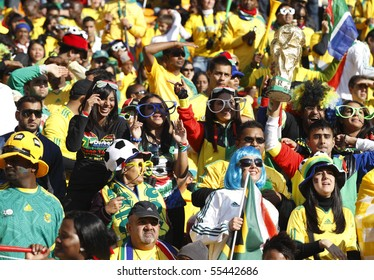 JOHANNESBURG - JUNE 11:  Crowd at a World Cup match between South Africa and Mexico June 11, 2010 in Johannesburg, South Africa.