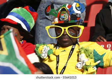 JOHANNESBURG - JUNE 18:  Spectator at a 2010 FIFA World Cup soccer match between Slovenia and the USA June 18, 2010 in Johannesburg, South Africa.