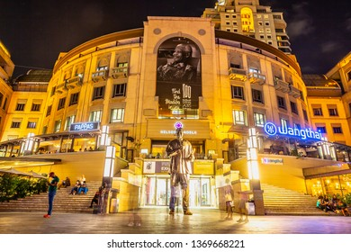 Johannesburg, South Africa- 03.05.2019: Nelson Mandela Square in  South Africa.
