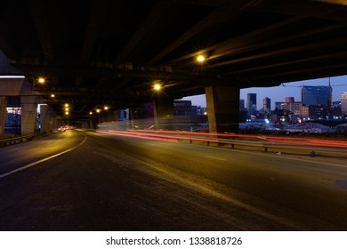 Johannesburg, South Africa - 07/06/2016: The Devilliers Graaf Motorway at Dusk