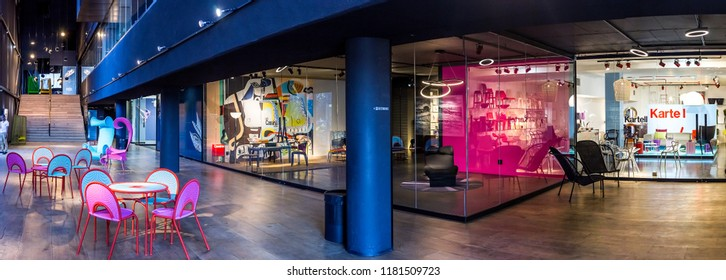 Johannesburg, South Africa - 11 September - 2018: Interior of art gallery and decor venue.