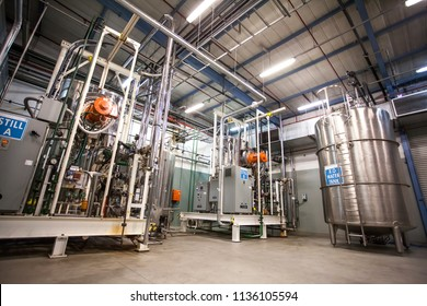 Johannesburg, South Africa - 17 November, 2015: Interior of a pharmaceutical manufacturing facility.