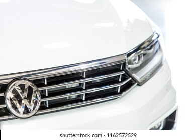 Johannesburg, South Africa, 22 October - 2015: Close up of front grill of modern car.