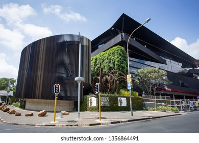 Johannesburg, South Africa, 22nd March- 2019: Exterior of art studio and design studio space building