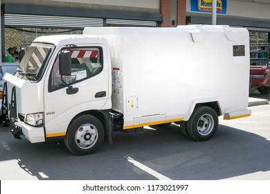 Johannesburg, South Africa  - 4 September, 2018: Cash in transit van. High security van used for transporting cash.