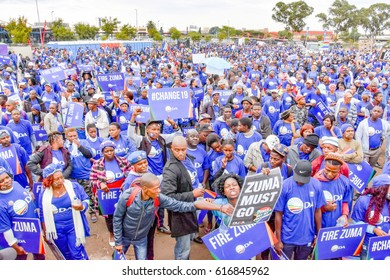 Johannesburg, South Africa – April 7, 2017: Mmusi Maimane at the Zuma Must Fall Protest March