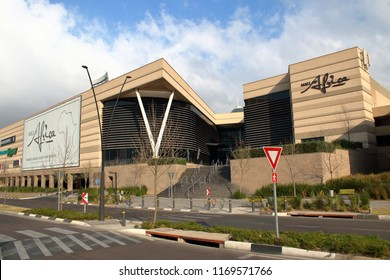 JOHANNESBURG, SOUTH AFRICA - August 18, 2018: The Mall of Africa, South Africa's largest shopping Mall ever built in a single phase, with over 130 000 square meters of retail space.