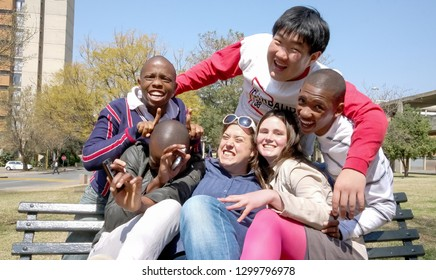 Johannesburg, South Africa - August 28 2010: Diverse College Students on Campus