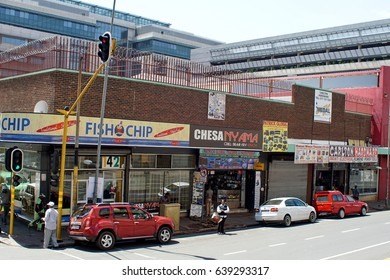 JOHANNESBURG, SOUTH AFRICA - CIRCA NOVEMBER 2016:  Low income area in the south side of the city, near Soweto