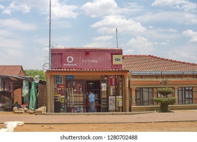 JOHANNESBURG, SOUTH AFRICA - CIRCA OCTOBER 2018: Small shop in Soweto, south of Johannesburg