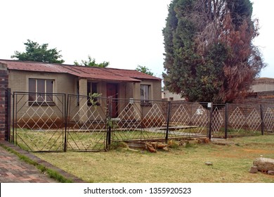 JOHANNESBURG, SOUTH AFRICA - CIRCA OCTOBER 2018: House in Soweto, south of Johannesburg