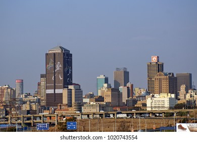 JOHANNESBURG, SOUTH AFRICA - CIRCA SEPTEMBER 2017: Downtown skyline