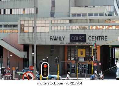 JOHANNESBURG, SOUTH AFRICA - CIRCA SEPTEMBER 2017: Family court building in Newtown