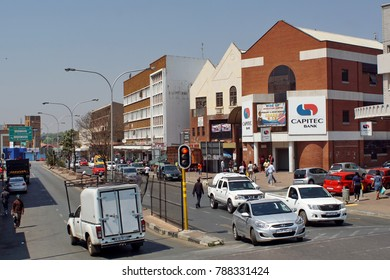 JOHANNESBURG, SOUTH AFRICA - CIRCA SEPTEMBER 2017: Businesses in the less prosperous southern side of Johannesburg