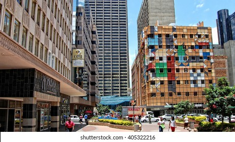 Johannesburg, South Africa - December 21, 2013: The modern view of Johannesburg, which is the biggest city of South Africa. It is Africa's economic powerhouse, & a modern and prosperous African city.