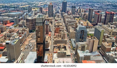 Johannesburg, South Africa -December21,2013: Johannesburg began as a gold-mining settlement.Today it is a megalopolis. Its Central Business District has most dense collection of skyscrapers in Africa