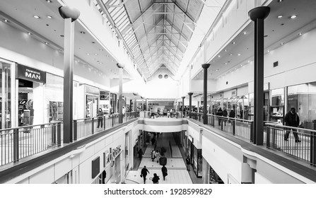 JOHANNESBURG, SOUTH AFRICA - Feb 20, 2021: Johannesburg, South Africa - July 05 2011: Inside Interior of Alberton City Mall in Johannesburg