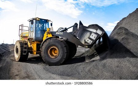 JOHANNESBURG, SOUTH AFRICA - Feb 24, 2019: Johannesburg, South Africa - April 20 2012: Manganese Mining and Equipment