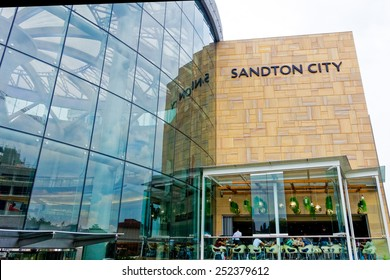 Johannesburg, South Africa - Jan 30 : financial district (Sandton area) pictured on January 30th, 2015, in Johannesburg, South Africa. Sandton City ranks among the largest shopping centres in Africa.