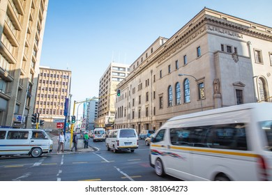 Johannesburg, South Africa �¢?? January 13, 2015: Morning walk to the busy streets of Johannesburg