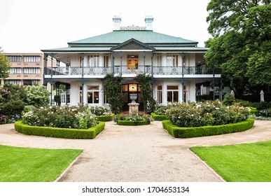 Johannesburg, South Africa - January 17, 2011: Old Colonial Mansion Heritage Site,  Hazeldene Hall in Parktown area