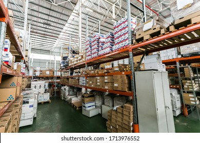 Johannesburg, South Africa - January 23, 2015: Storage Warehouse for photocopy machines and the ink and paper to go with them