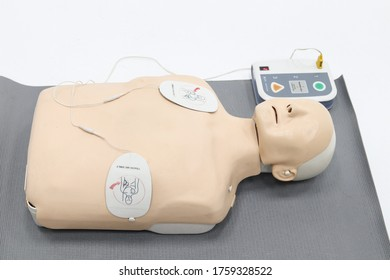 Johannesburg, South Africa - June 12 2020: Medical supplies cpr electrical pads for adults