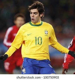 JOHANNESBURG, SOUTH AFRICA - JUNE 15:  Kaka of Brazil in action during a FIFA World Cup match June 15, 2010 in Johannesburg, South Africa.  Editorial use only.  No pushing to mobile device use.