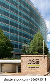 Johannesburg, South Africa, March 27, 2015 : The Johannesburg Stock Exchange. It was formed in 1887 and is currently ranked the 19th largest stock exchange in the world by market capitalisation.