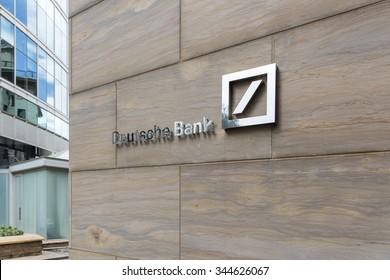 Johannesburg, South Africa - March 27, 2015: An outlet of Deutsche Bank. Deutsche Bank reported a third quarter 2015 net loss of EUR 6.0 billion.