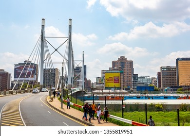 Johannesburg, South Africa - March 5, 2019: Nelson Mandela Bridge , Johannesburg
