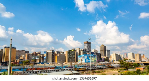 Johannesburg, South Africa - March 5, 2019: Johannesburg Cityscape with its buildings, South Africa.
