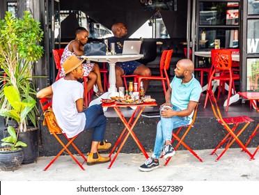 Johannesburg, South Africa - March 6, 2019: Maboneng Precinct of Johannesburg city. One of South Africa's hippest urban districts