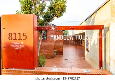 Johannesburg, South Africa - March 7, 2019: Nelson Mandela's house in Soweto, South Africa