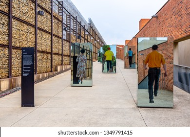 Johannesburg, South Africa - March 7, 2019: Famous Apartheid Museum in Johannesburg, South Africa