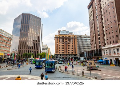 Johannesburg, South Africa - March 7, 2019:Gandhi squarein  Johannesburg city , South Africa.