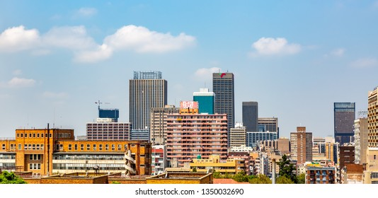 Johannesburg, South Africa - May 25, 2015: Panoramic view of  skyline of Johannesburg city, South Africa.