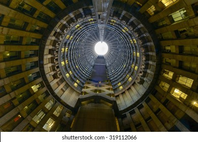 Johannesburg, South Africa - May 25, 2015: Ponte City Building interior cylinder. Ponte City is a famous skyscraper in the Hillbrow neighbourhood of Johannesburg.