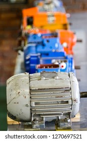 Johannesburg, South Africa - May 8 2012: Old Electric Motors at Vocational Training School