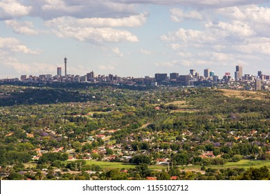 Johannesburg, South Africa - November 13, 2016: View of Johannesburg city skyline 