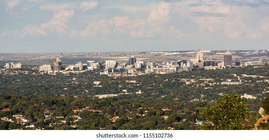 Johannesburg, South Africa - November 13, 2016: View of Sandton skyline, Johannesburg from Northcliff hill