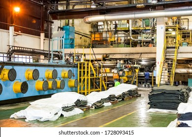 Johannesburg, South Africa - October 19, 2012: Inside interior of Machinery used on a rubber assembly line in a factory