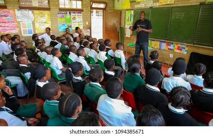 Johannesburg, South Africa, October 26, 2011, African Children in Primary School Classroom