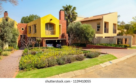 Johannesburg, South Africa, September 09, 2010, Upmarket wealthy suburban Johannesburg neighborhood in gated community estate