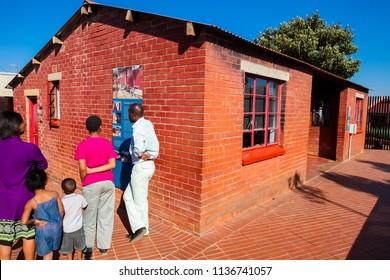 Johannesburg, South Africa, September 11, 2011, Outside Nelson Mandela's house in Vilakazi Street Soweto