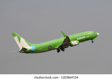 JOHANNESBURG, SOUTH AFRICA - SEPTEMBER 27, 2018: Kulula.com airline Boeing 737 takes off from O. R. Tambo International Airport in Johannesburg, South Africa